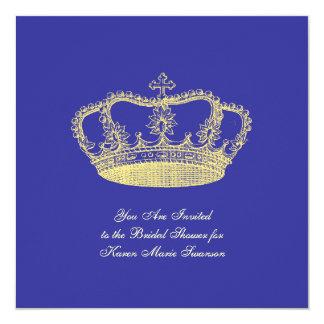 Golden Crowns 13 Cm X 13 Cm Square Invitation Card