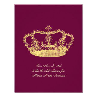 Golden Crowns Invitations