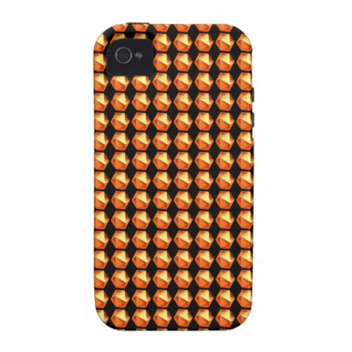 GOLDEN Crystal Pattern ART Healing GREETINGS GIFTS iPhone 4 Cover