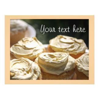 Golden Cupcakes Designs 21.5 Cm X 28 Cm Flyer