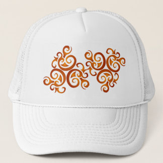 Golden curls trucker hat