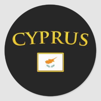 Golden Cyprus Classic Round Sticker