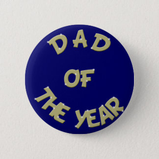 Golden Dad Of The Year Button
