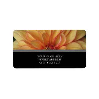 Golden Dahlia Address Labels