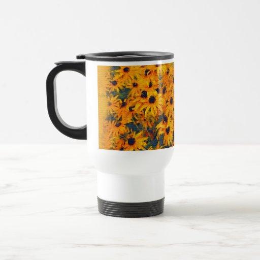 Golden Daisies Flower-lover's Floral Art Mug