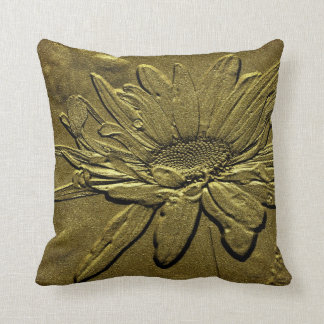Golden Daisy Floral American MoJo Pillow