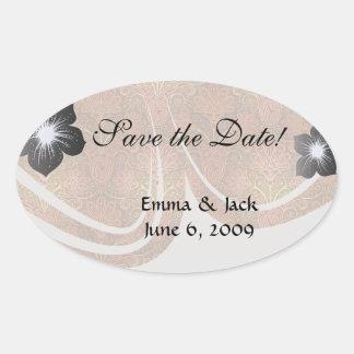 golden damask.ai oval sticker