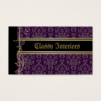 Golden Damask Luxury Custom Business Cards