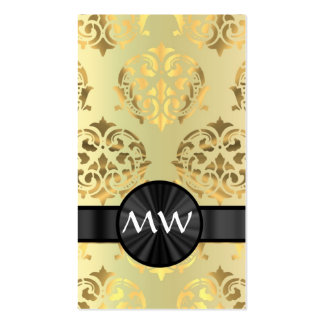 Golden damask pack of standard business cards