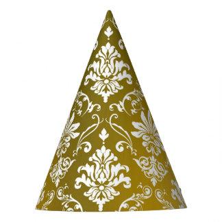 Golden Damask Party Hat