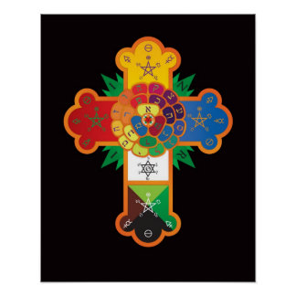 Golden Dawn Rose Cross Lamen Poster