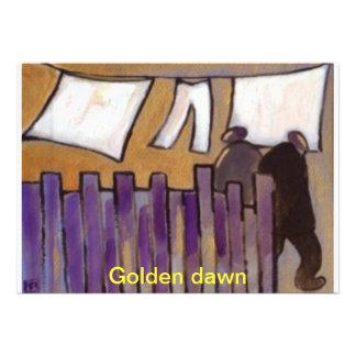 Golden dawn wedding invite