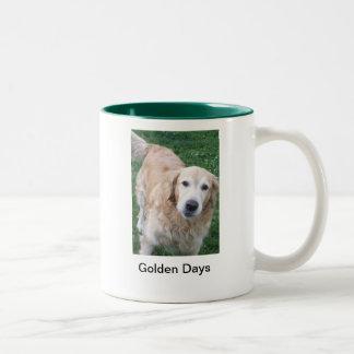 Golden Days Two-Tone Coffee Mug