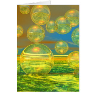 Golden Days - Yellow Azure Tranquility Greeting Cards