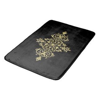 Golden decoration bath mats