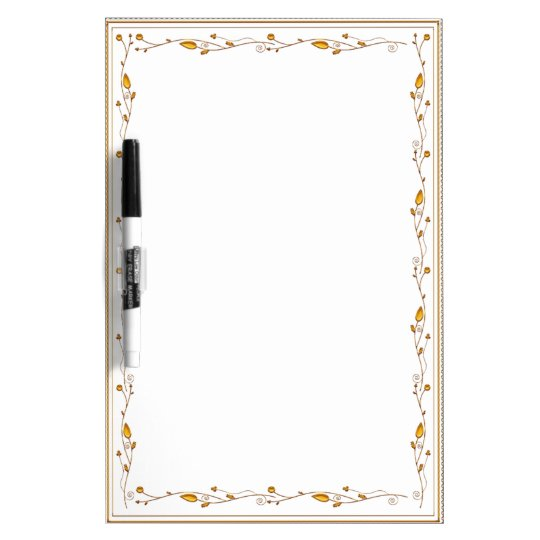 Golden decoration dry erase board