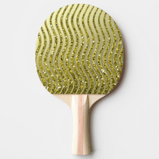 Golden decoration ping pong paddle