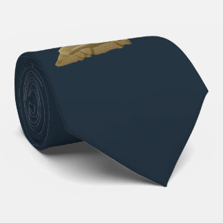 Golden Deer on Dark Blue, Customizable Tie