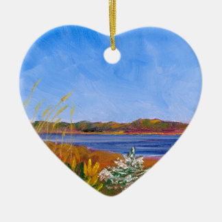 Golden Delaware River Christmas Ornament