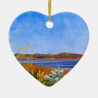 Golden Delaware River Christmas Ornament