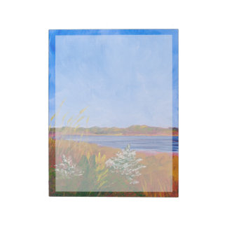 Golden Delaware River Notepad