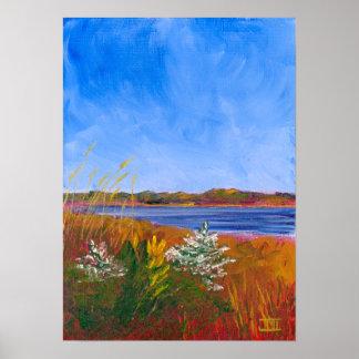 Golden Delaware River Poster