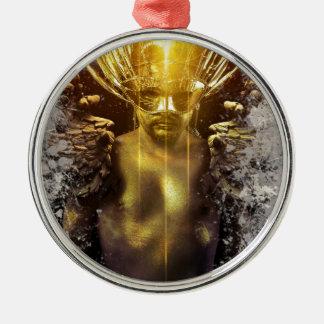 Golden Delicious warrior Silver-Colored Round Decoration