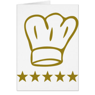 golden deluxe chef hat 5 stars icon card