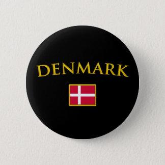 Golden Denmark 6 Cm Round Badge