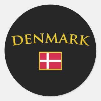Golden Denmark Classic Round Sticker