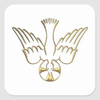 Golden Descent of The Holy Spirit Symbol Sticker