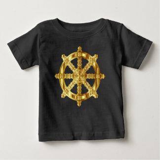 Golden Dharma Wheel Buddhism And Hinduism Symbol Baby T-Shirt