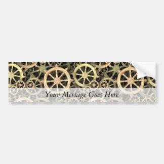 Golden Dharmacakra Bumper Sticker