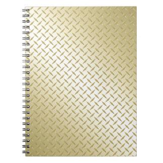 Golden Diamond Plate Notebooks