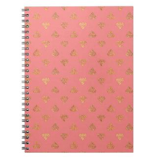 Golden Diamonds Journal Spiral Note Book