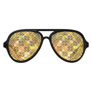 Golden Disco Ball Party Shades Sunglasses