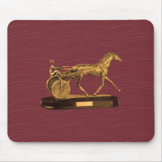 Golden  DISPLAY GIFTS : VINTAGE HORSE CHARRIOT Mouse Pad