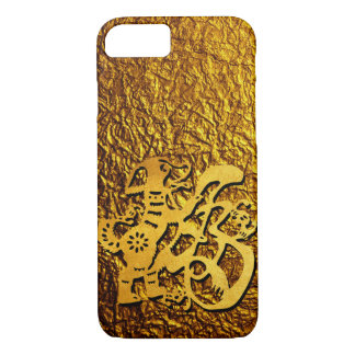 Golden Dog Year Chinese Papercut Greeting iPhone iPhone 8/7 Case