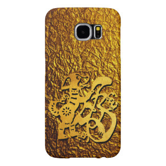 Golden Dog Year Chinese Papercut Greeting Samsung Samsung Galaxy S6 Cases