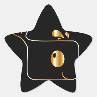 Golden Dolphin graphic Star Sticker