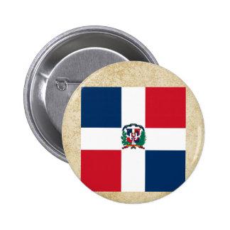 Golden Dominican Republic Flag 6 Cm Round Badge