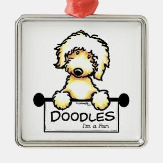 Golden Doodle Fan Christmas Ornament