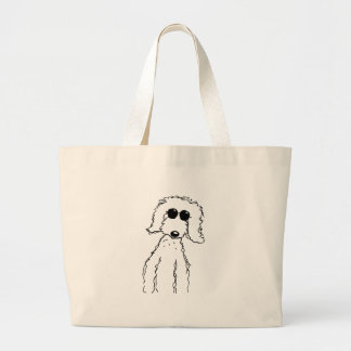 Golden Doodle in Sunglasses Large Tote Bag