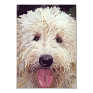 Golden Doodle Look Cards 13 Cm X 18 Cm Invitation Card