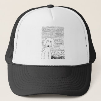 Golden Doodle on the Beach Trucker Hat