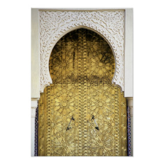 Golden Door and an Arch Way, Morocco Poster
