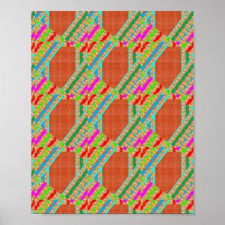 Golden Dot Colorful STRIPES: Energy Vibe ART Poster