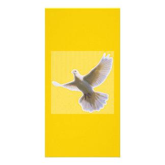 Golden Dove Bookmarker Photo Card Template