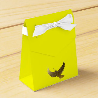 Golden Dove Faith Bless Peace Love Gold Pattern Wedding Favour Box