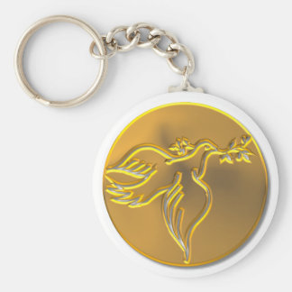 Golden Dove of Peace - Holy Spirit Key Ring